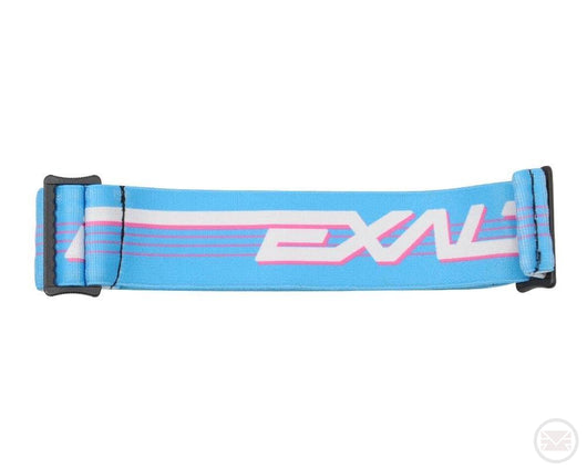 Exalt Paintball Retro Goggle Strap Blue/Pink Grills