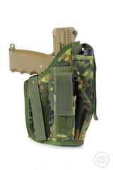 Molle Tactical Right Hand Draw Large Pistol Holster - Fits Tippmann TiPX-Modern Combat Sports