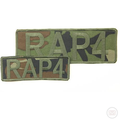 RAP4 Camo Patches (Front & Back) (Woodland)