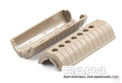 RAP4 Paintball Gun Handguard (Tan)-Modern Combat Sports