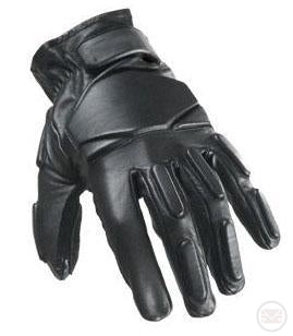 SWAT Tactical Leather Gloves (Regular - Black) Large