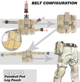 Twin Rifle Magazine Paintball Pod Leg Pouch-Modern Combat Sports