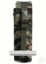 Molle Single 140 round Paintball Pod Pouch in Tiger Stripe