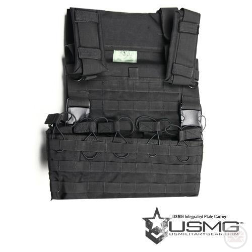 USMG Integrated Plate Carrier (Large) (Black)-Modern Combat Sports