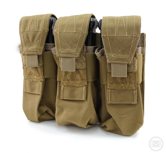 USMG Universal Triple Magazine Pouch MOLLE - Coyote Tan-Modern Combat Sports
