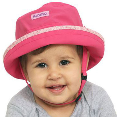 Baby Sun Hat, in two sizes, laugh and play design