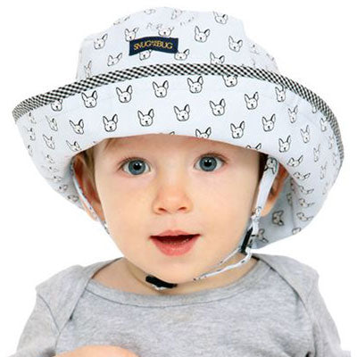 Baby Sun Hat, in 2 sizes, puppy park design