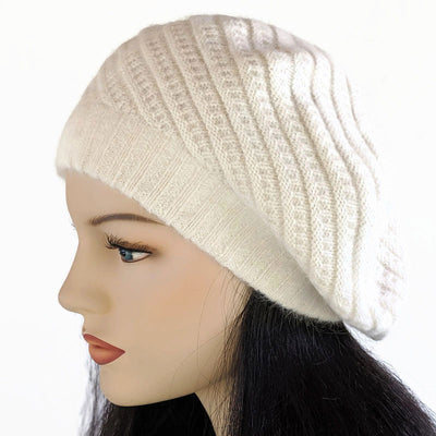 Roomy Stylish Knit Beret in assorted colors