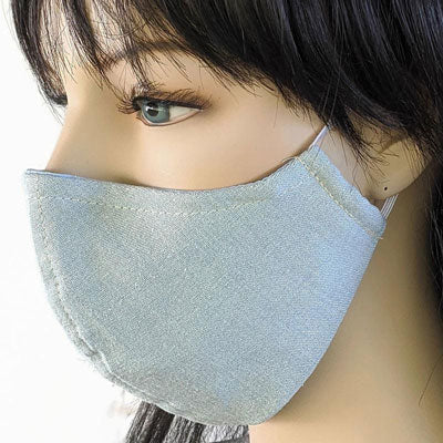 Cotton denim fabric face mask, 3 layers with cotton poly lining, assorted sizes