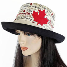 Raffia Straw wide brim straw sun hat with Canada Day red trim