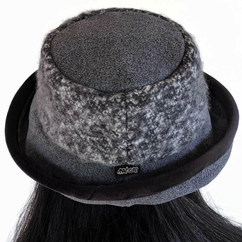 Premium Fashion Hat in Charcoal with tuck up earflaps
