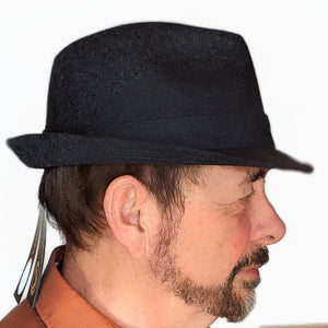 410 Wool Men's Fedora in Charcoal