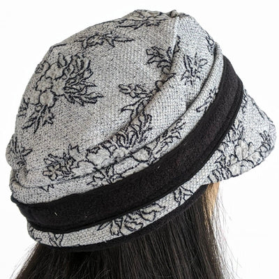 Knit fashion cap for spring, fall and mild winter weather in charcoal