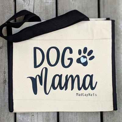 Dog Mama Cotton Canvas Tote Bag