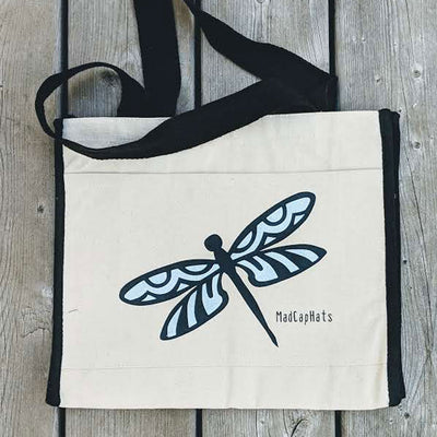 Dragonfly Cotton Canvas Tote Bag