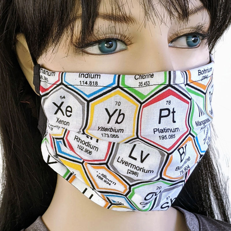 3 layer pleated folding style fabric face mask, elements number two, one size