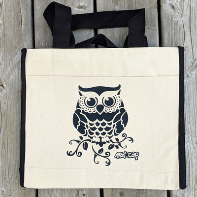 606 Owl Cotton Canvas Tote Bag