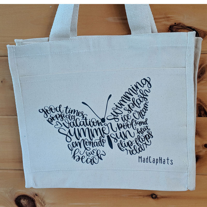 Butterfly days of summer Cotton Canvas Tote Bag