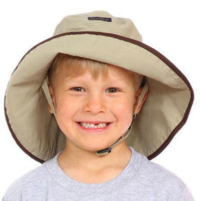 Adjustable Sun Hat, in sizes infant to 8 years, tan UPF50+