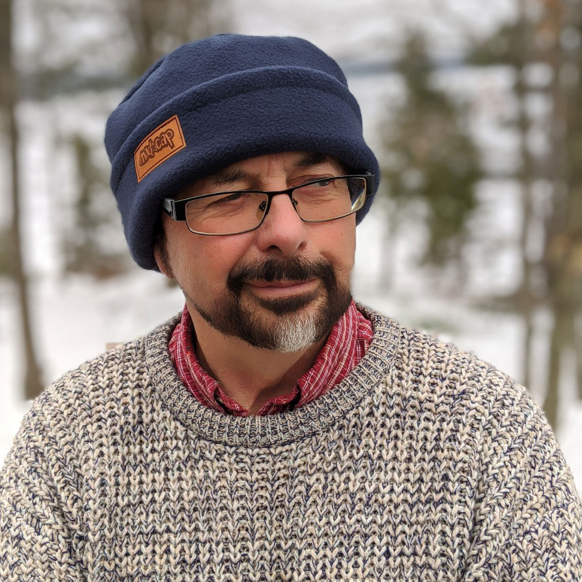 a-Men's or Unisex Fleece Toque with adjustable cuff