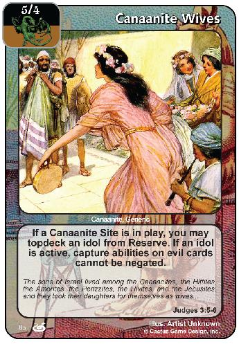Canaanite Wives (FoM)