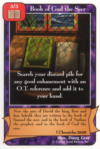Book of Gad the Seer (F Deck)