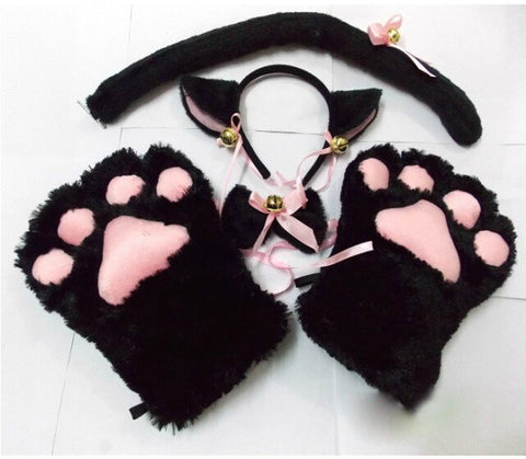Neko Anime Kitty Paw Costume Set