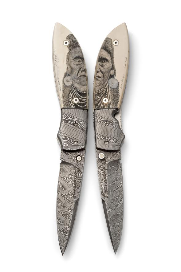 Chief Joseph twin knives set
