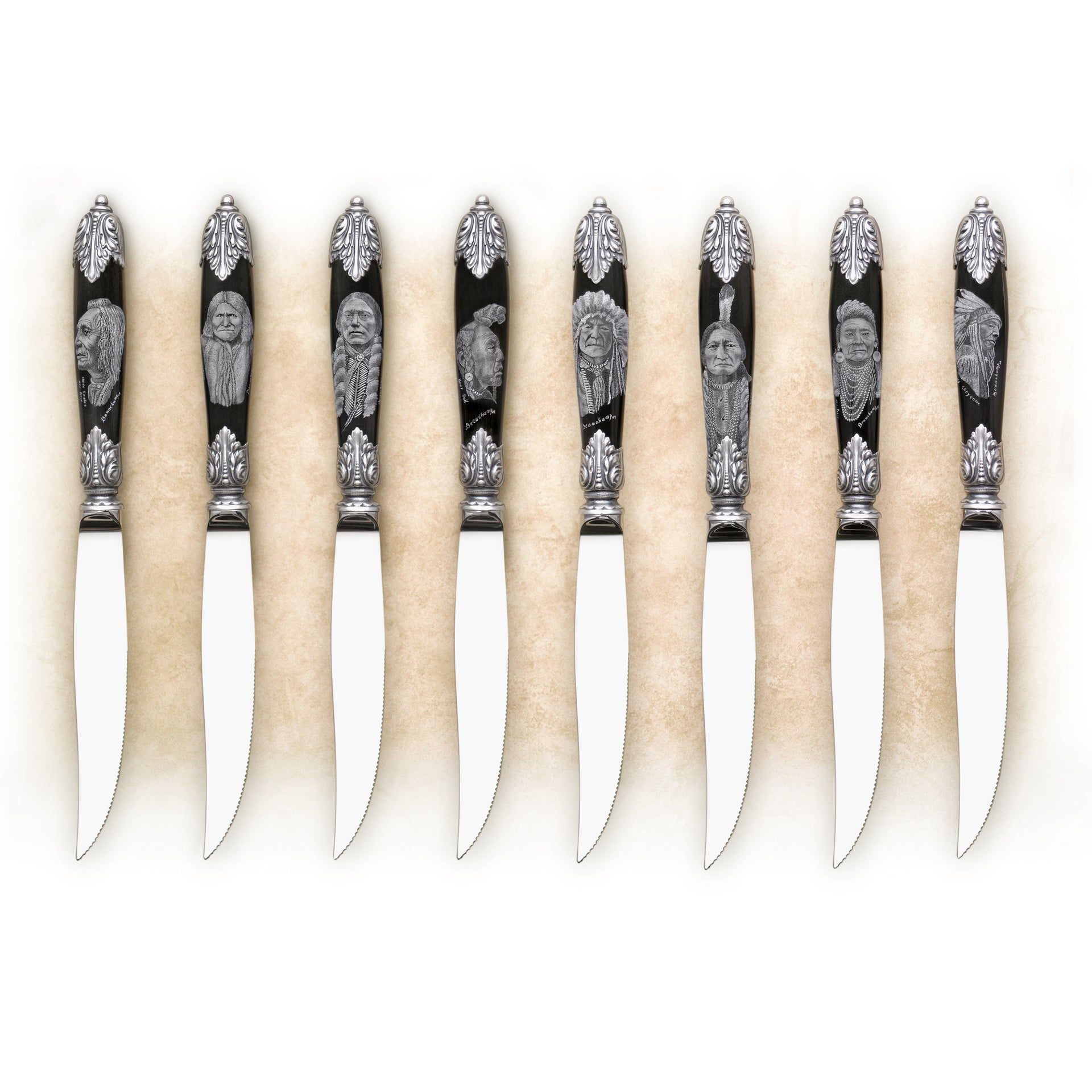Scrimshaw Steak Knives
