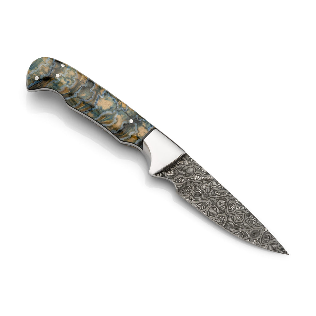 Green mammoth molar knife