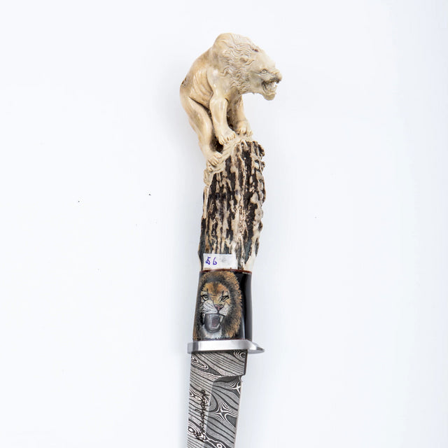 Carved lion knife
