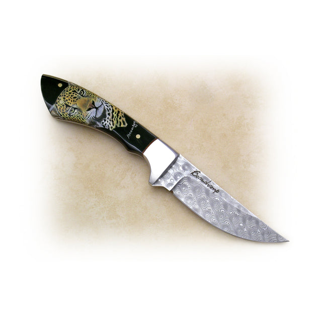 Leopard Damascus Knife