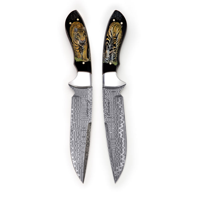 Tiger Damascus Knife
