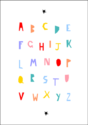 Alphabet print - colour