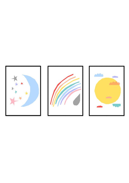 Colourful Skies - set of three prints.