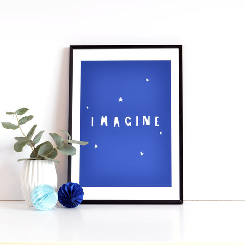 IMAGINE print- indigo blue