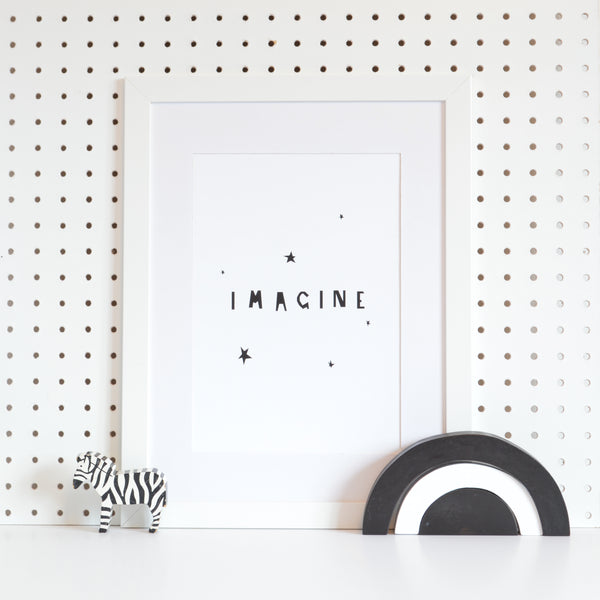 IMAGINE print- monochrome