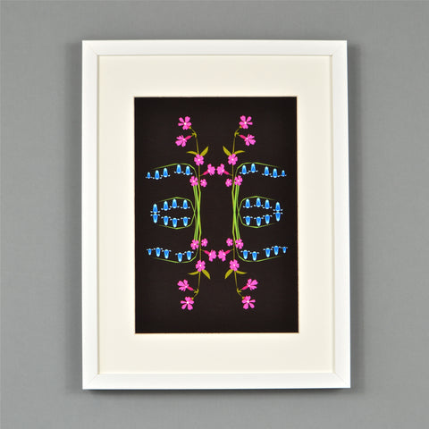Bluebells and Campions print
