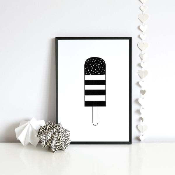 Lolly print - MONOCHROME