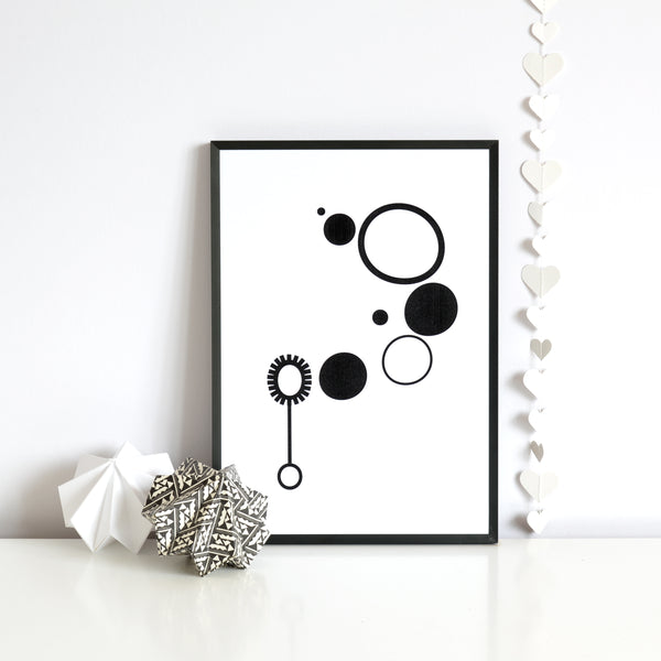 Bubbles print - MONOCHROME