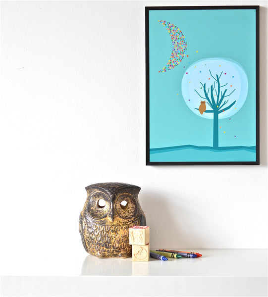 Goodnight Owl print