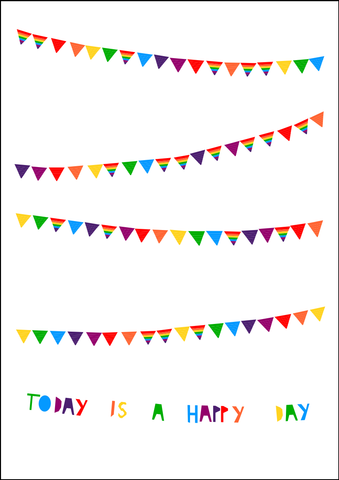 Happy Day Bunting print