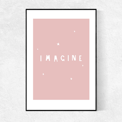 IMAGINE print- blush pink