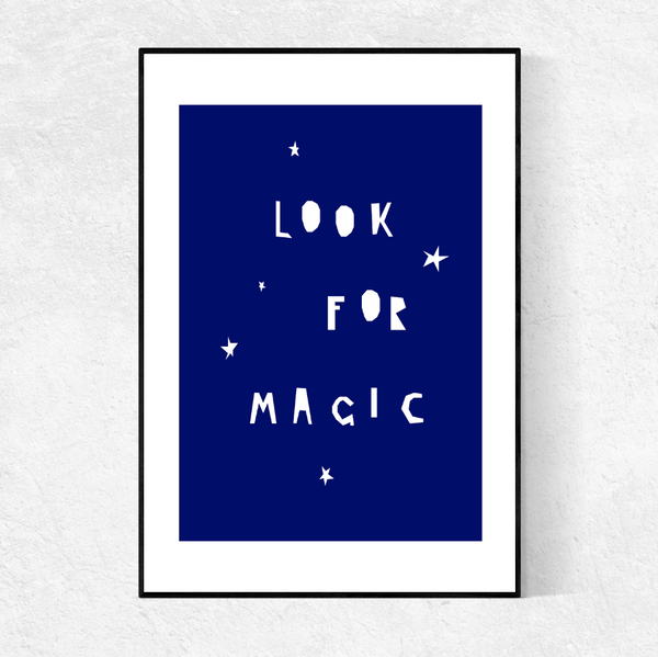 LOOK FOR MAGIC print- indigo blue