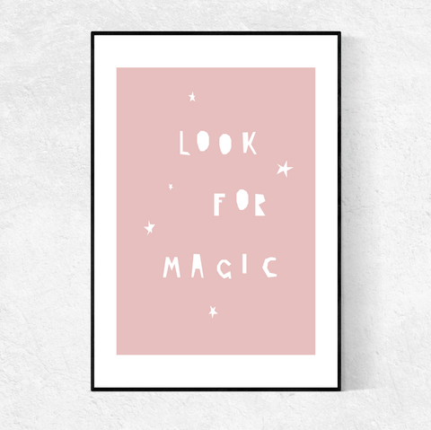 LOOK FOR MAGIC print- blush pink