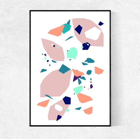 Terrazzo Abstract print