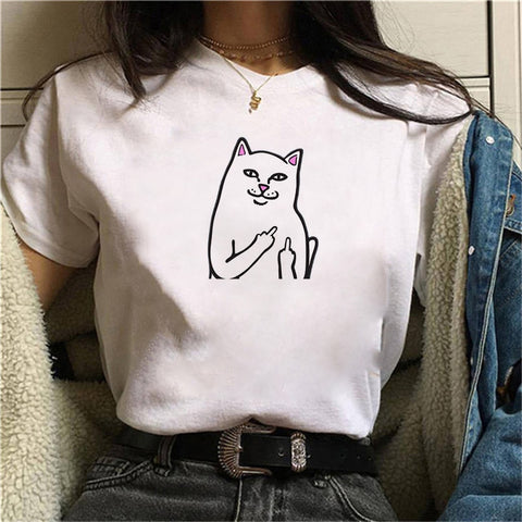 FLIPPIN CAT GRAPHIC TOP