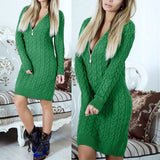 WOMEN'S KNITTED SWEATER DRESS