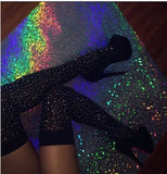 HER BOOTZ Glitter Thigh Highs