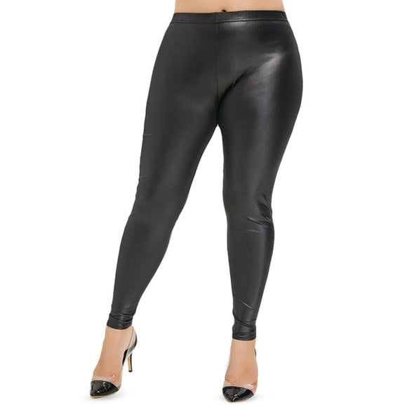 Plus Size Pencil High Waist Skinny Leggings